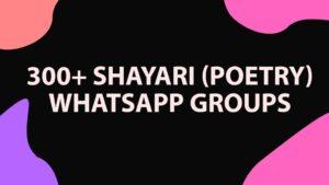 Shayari (poetry)WhatsApp Group links