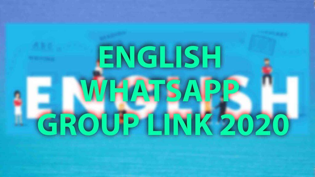 English whatsapp group link 2020