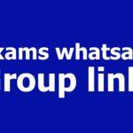 Exams whatsapp Group links