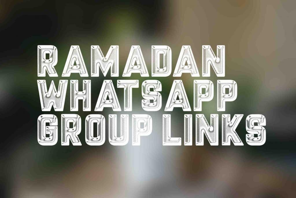 Ramadan Whatsapp group links