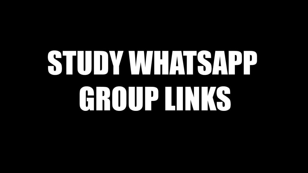 Educational Whatsapp Group Links Collection