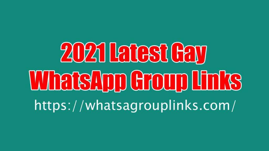 Gay WhatsApp Group Links 2021